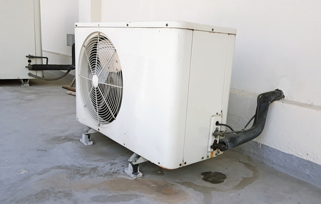 air: air compressor on working