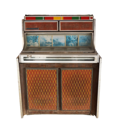 jukebox: Retro jukebox on white background