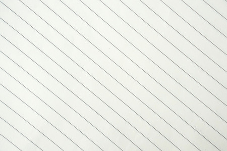 in lined: white lined sheet of notepad paper