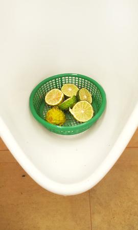 chamber pot: bergamot in chamber pot for reduce bad smell