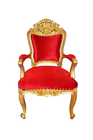 classical carved red wooden chair