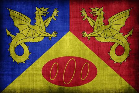 craig: Craig-y-Dorth flag pattern, retro vintage style Stock Photo
