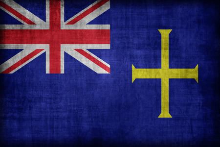 ensign: State Ensign of Guernsey flag pattern, retro vintage style
