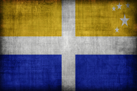 isles: The Isles of Scilly flag pattern, retro vintage style Stock Photo