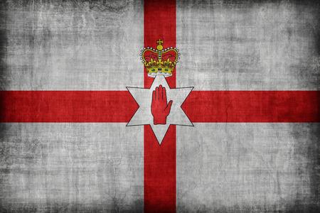 bandera irlanda: Irlanda del Norte patr�n de bandera, �poca de estilo retro