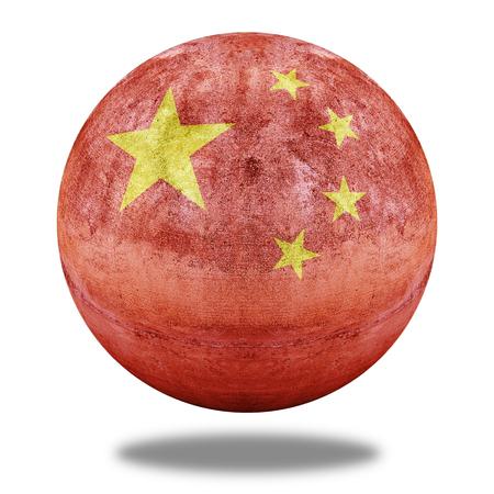 stone circle: China flag pattern on stone circle shape texture