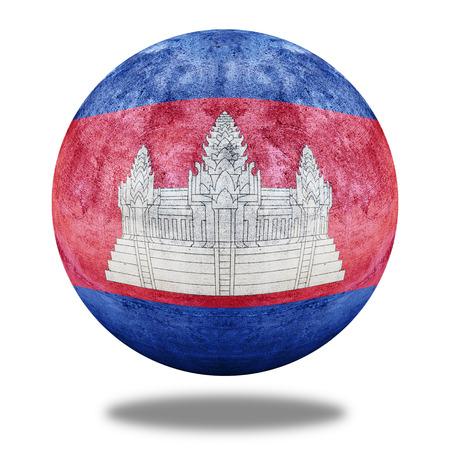 stone circle: Cambodia flag pattern on stone circle shape texture