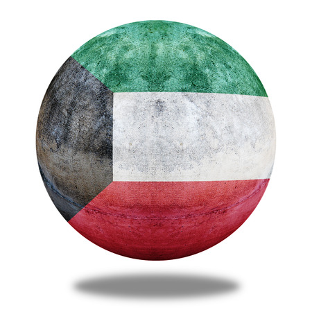 stone circle: Kuwait flag pattern on stone circle shape texture