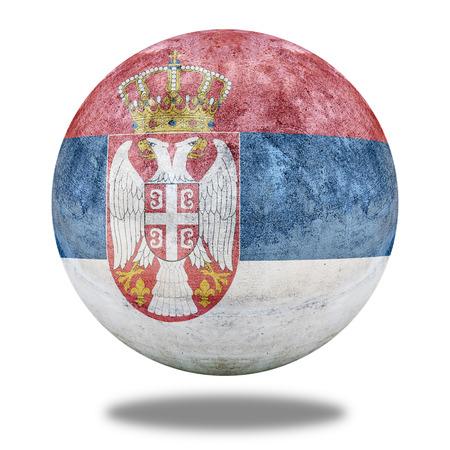 stone circle: Serbia flag pattern on stone circle shape texture