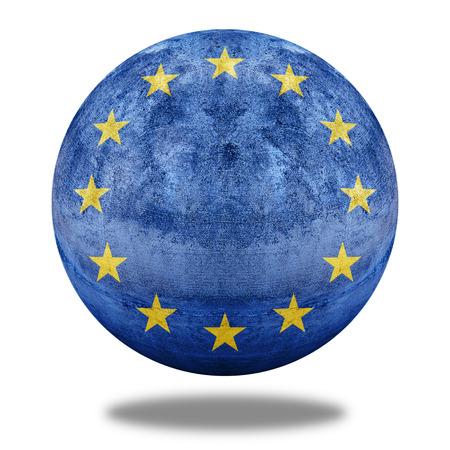 stone circle: Europe Zone flag pattern on stone circle shape texture
