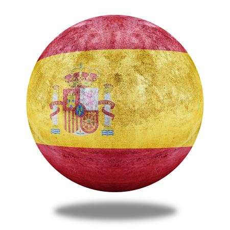 stone circle: Spain flag pattern on stone circle shape texture