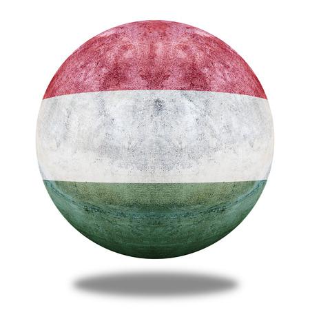 stone circle: Hungary flag pattern on stone circle shape texture