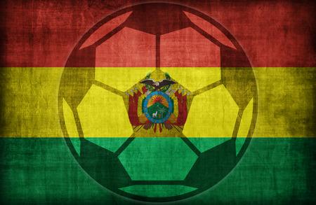bandera de bolivia: s�mbolo de f�tbol en el patr�n de bandera de Bolivia, �poca de estilo retro