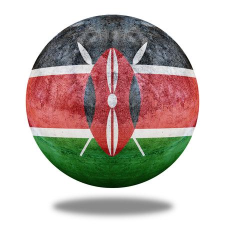 stone circle: Kenya flag pattern on stone circle shape texture Stock Photo