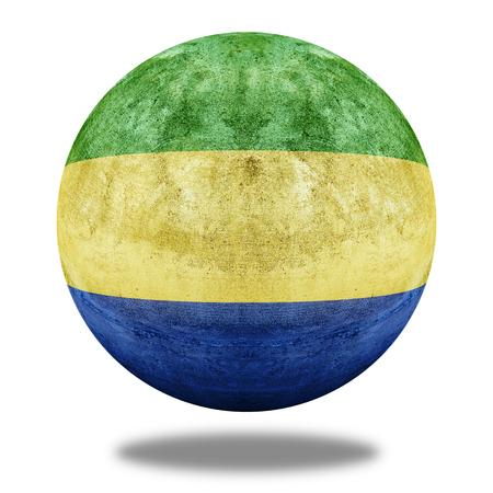 stone circle: Gabon flag pattern on stone circle shape texture