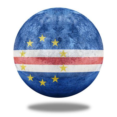 cape verde flag: Cape Verde flag pattern on stone circle shape texture