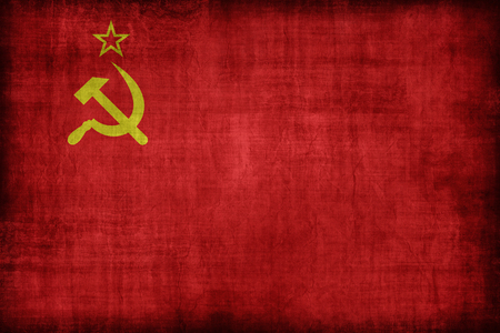 Soviet Union flag pattern, retro vintage style Banco de Imagens
