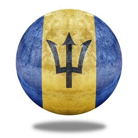 stone circle: Barbados flag pattern on stone circle shape texture Stock Photo