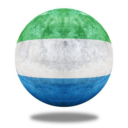 stone circle: Sierra Leone flag pattern on stone circle shape texture Stock Photo