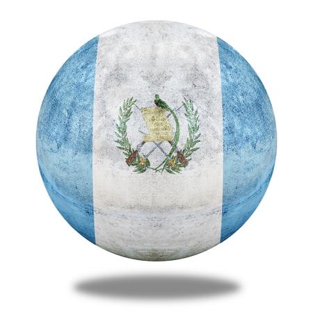 stone circle: Guatemala flag pattern on stone circle shape texture Stock Photo