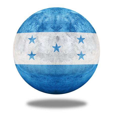 stone circle: Honduras flag pattern on stone circle shape texture