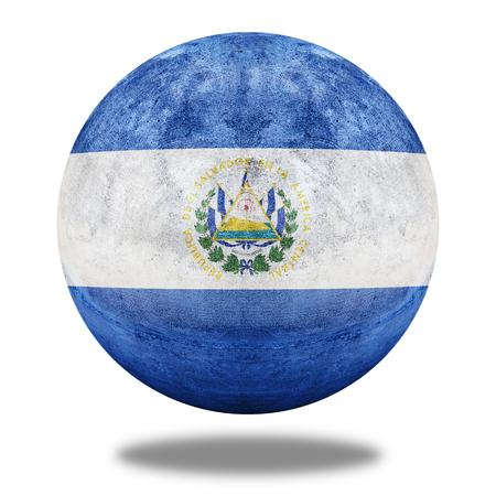 el salvador flag: El Salvador flag pattern on stone circle shape texture