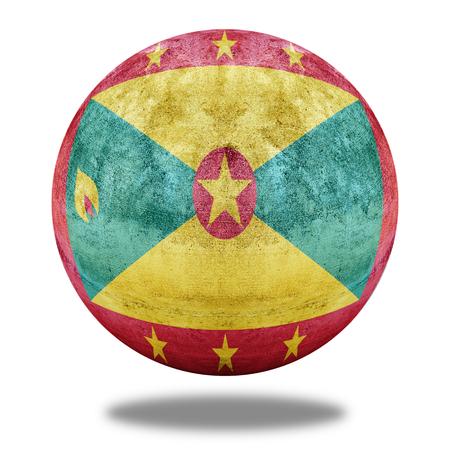 stone circle: Grenada flag pattern on stone circle shape texture Stock Photo