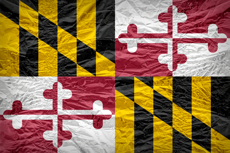 maryland flag: Maryland flag pattern overlay on floyd of candy shell, vintage border style