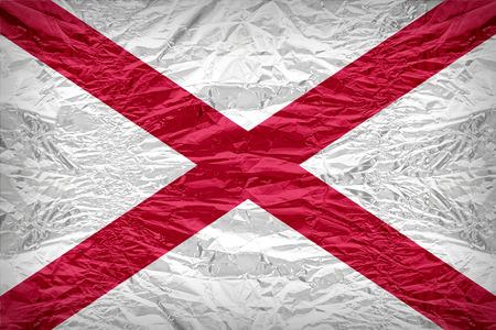 alabama flag: Alabama flag pattern overlay on floyd of candy shell, vintage border style