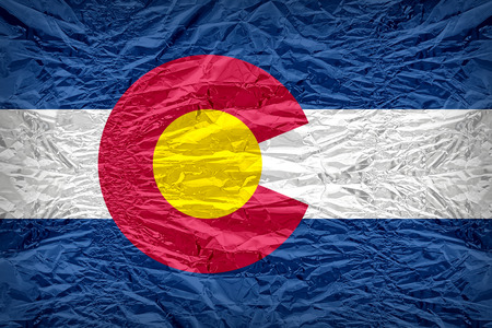colorado flag: Colorado flag pattern overlay on floyd of candy shell, vintage border style