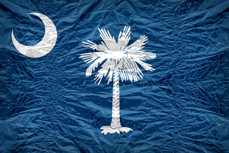 carolina: South Carolina flag pattern overlay on floyd of candy shell, vintage border style