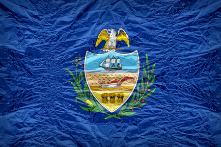 allegheny: Allegheny County flag pattern overlay on floyd of candy shell, vintage border style
