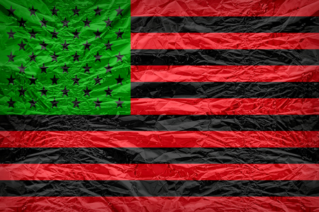 african america: African America flag pattern overlay on floyd of candy shell, vintage border style Stock Photo