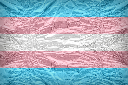 floyd: Transgender Pride flag pattern overlay on floyd of candy shell, vintage border style