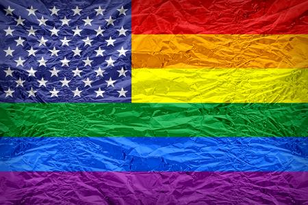 bandera gay: Estados Unidos bandera Gay participaci�n de patr�n de Floyd de la cubierta de caramelo, estilo de borde de la vendimia