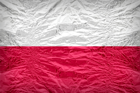 poland flag: Poland flag pattern overlay on floyd of candy shell, vintage border style