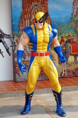 wolverine: AYUTTAYA,THAILAND - FEBUARY 27, 2016 : Wolverine model at Thung Bua Chom floating market Editorial