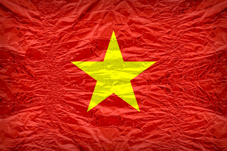 dazzlingly: Vietnam flag pattern overlay on floyd of candy shell, vintage border style