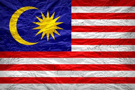 floyd: Malaysia flag pattern overlay on floyd of candy shell, vintage border style