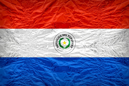 bandera de paraguay: Paraguay flag pattern overlay on floyd of candy shell, vintage border style