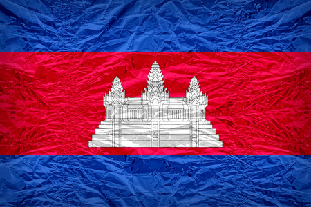 dazzlingly: Cambodia flag pattern overlay on floyd of candy shell, vintage border style