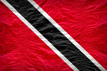 floyd: Trinidad and Tobago flag pattern overlay on floyd of candy shell, vintage border style Stock Photo