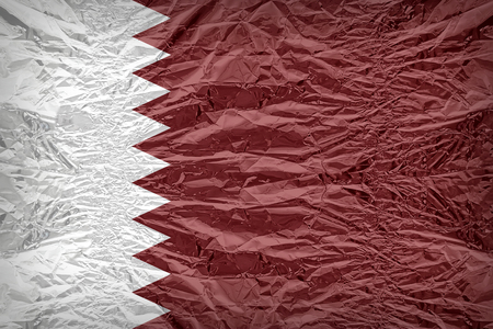 dazzlingly: Qatar flag pattern overlay on floyd of candy shell, vintage border style Stock Photo