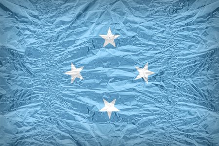 floyd: Micronesia flag pattern overlay on floyd of candy shell, vintage border style Stock Photo