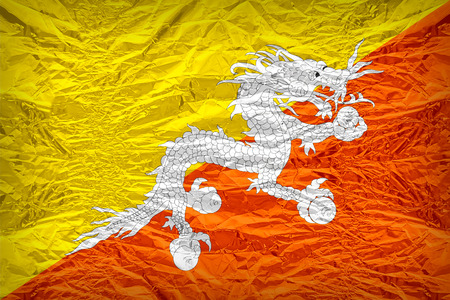 dazzlingly: Bhutan flag pattern overlay on floyd of candy shell, vintage border style