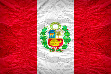 national border: National flag of Peru overlay on floyd of candy shell, vintage border style