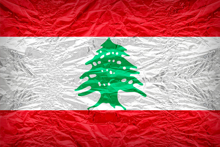 dazzlingly: Lebanon flag pattern overlay on floyd of candy shell, vintage border style