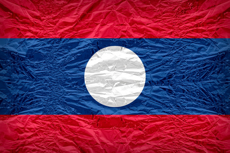 dazzlingly: Laos flag pattern overlay on floyd of candy shell, vintage border style