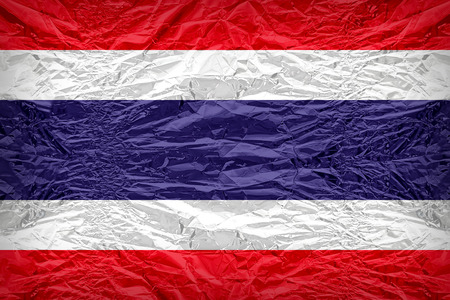 dazzlingly: Thailand flag pattern overlay on floyd of candy shell, vintage border style Stock Photo