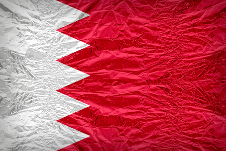dazzlingly: Bahrain flag pattern overlay on floyd of candy shell, vintage border style Stock Photo